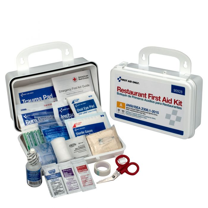 10 Person First Aid Kit, ANSI A, Restaurant Version