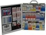 3 Shelf Steel First Aid Station -Wall Mountable with 494 Pieces