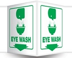 Plastic Eye Wash Station Sign (3D)