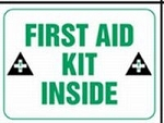 First Aid Kit Inside Sticker (Adhesive Dura Vinyl)
