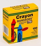 Crayon Bandages, Strips, 5/8