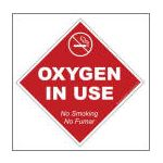 Oxygen Window Cling - No Smoking 5