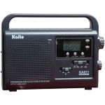 Solar and Dynamo Powered Radio w/Super Bright LED Flashlight