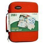 Premium Hard-Shell Foam First Aid Kit (208 Piece)