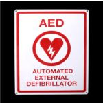 Flat AED Sign