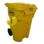 Locking Yellow Storage Container on Wheels (65 gallon)