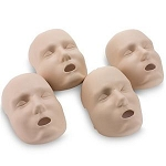 Face Replacements for PRESTAN® Adult Manikin (4-Pack) in Medium Skin