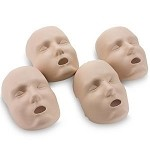 Face Skin Replacements for PRESTAN® Adult Manikin (4-Pack)