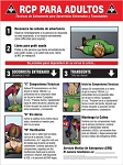 Safety Sign: CPR Adult Instructions - Spanish
