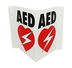 AED Wall Sign - Foldable