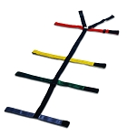10-Point Spider Straps Color-Coded