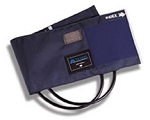 Mabis - Adult Blood Pressure Cuff & 2-Tube Bladder Blue - Nylon
