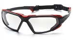 HIGHLANDER - Clear H2X Anti-Fog Lens with Black/Red Frame