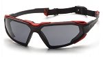 HIGHLANDER - Gray H2X Anti-Fog Lens with Black/Red Frame