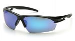 IONIX - Ice Blue Mirror Lens with Black Frame