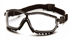 V2G - Clear H2X Anti-Fog Lens with Black Strap/Temples
