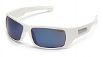 FURIX - Blue Mirror Anti-Fog Lens with White Frame