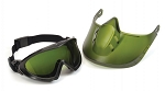 CAPSTONE SHIELD - Capstone Green Tinted Face Shield with IR3 H2X Anti-Fog Lens Goggle