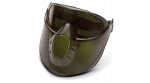 CAPSTONE SHIELD - Capstone Green Tinted Face shield with IR5 H2X Anti-Fog Lens Goggle