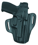 Gold Line Two Slot Pancake Holster w/ equipment rail (Black)