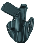 Leather Three-Slot Pancake Holster (Black)