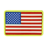 PVC U.S. Flag Patches (6pc)