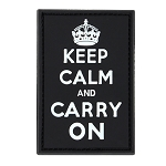 Keep Calm & Carry Pvc Patch (6Pcs/Pack), White