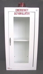 Surface Mounted AED Wall Cabinet - White Steel - Optional Alarm
