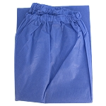 Disposable Scrub Pants, Elastic Waist, Light Blue, 30/cs