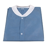 Lab Coat w/o Pockets, Blue, 3bags/10pcs/cs