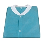 Lab Coat w/ Pockets, Teal, 3bags/10pcs/cs