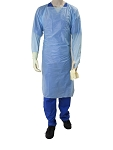 CPE Thumb Loop Isolation Gown, Blue, Single