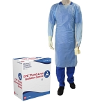 CPE Thumb Loop Isolation Gown, Blue, 15/Bx
