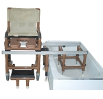 WoodTone All Purpose Dual Shower/Transferchair (Must Be Used With Assistance)