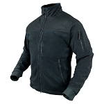 Alpha Fleece Jacket, Navy Blue, S