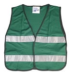 Green Vest with Reflective Stripes