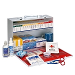 2 Shelf First Aid ANSI B+ Metal Cabinet, with Meds