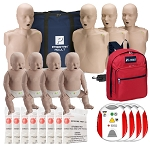 Instructor Package - PRESTAN® Adult and Infant Manikins with Red Cross Trainers and CPR Kits