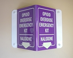3D Naloxone Overdose Kit Sign