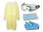 Flu Kit (1 Mask, 1 Pair of Goggles, 1 Gown, 1 Pair of Latex Gloves)