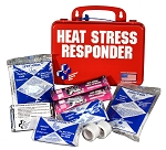 Heat Stress Relief First Aid Kit Red Poly Case