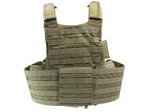 Land Combat Integrated Releasable Armor System - Black Size M