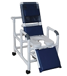 Reclining Shower Chair With Soft Seat Deluxe Elongated