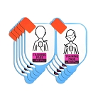 Defibtech Pediatric Training Pad Replacement Electrodes - (5 pairs)