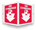 Fire Extinguisher Sign (3D) / Size: 6in x 5in panel