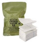 QuikClot Combat Gauze XL (4-inch x 4-yard z-folded)- Case of 50