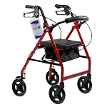 DynaGo Quad 8 - Aluminum Rollator with 7.5inch Wheels