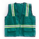 Nylon Mesh Safety Vest with 3M Reflective Stripe (Green)