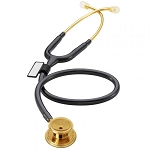 MD One Stainless Steel Stethoscope - 22K Gold Edition (Black)