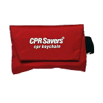 CPR Face Shield on Keychain with 2 gloves, RED 15 pack